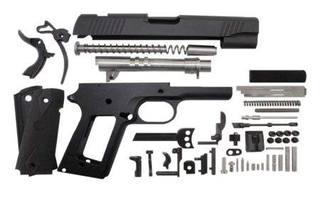 "45 / Commander 4.25"" / Anodized Black 1911 Build Kit"