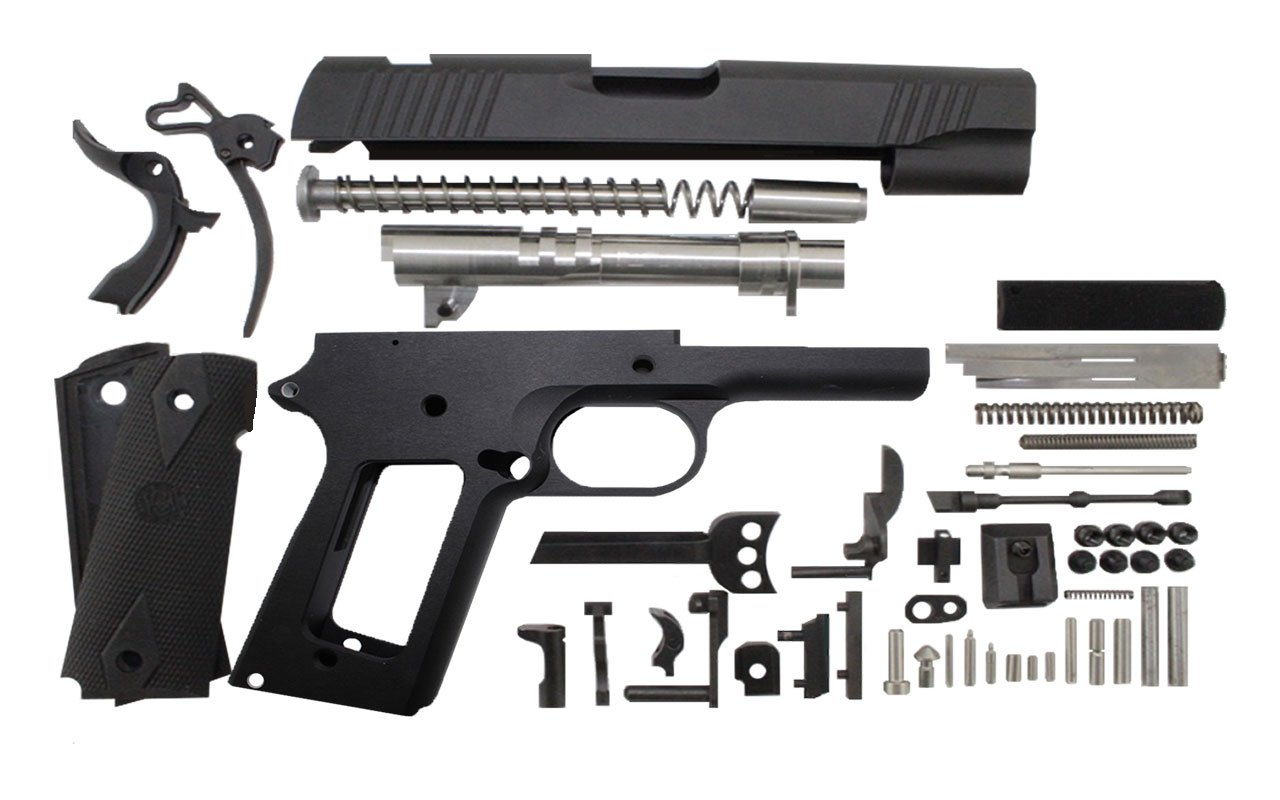"9 / Commander 4.25"" / Anodized Black 1911 Build Kit"