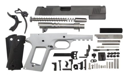 """9 / Government 5"""" Tactical  / Bead Blasted 1911 Build Kit"""