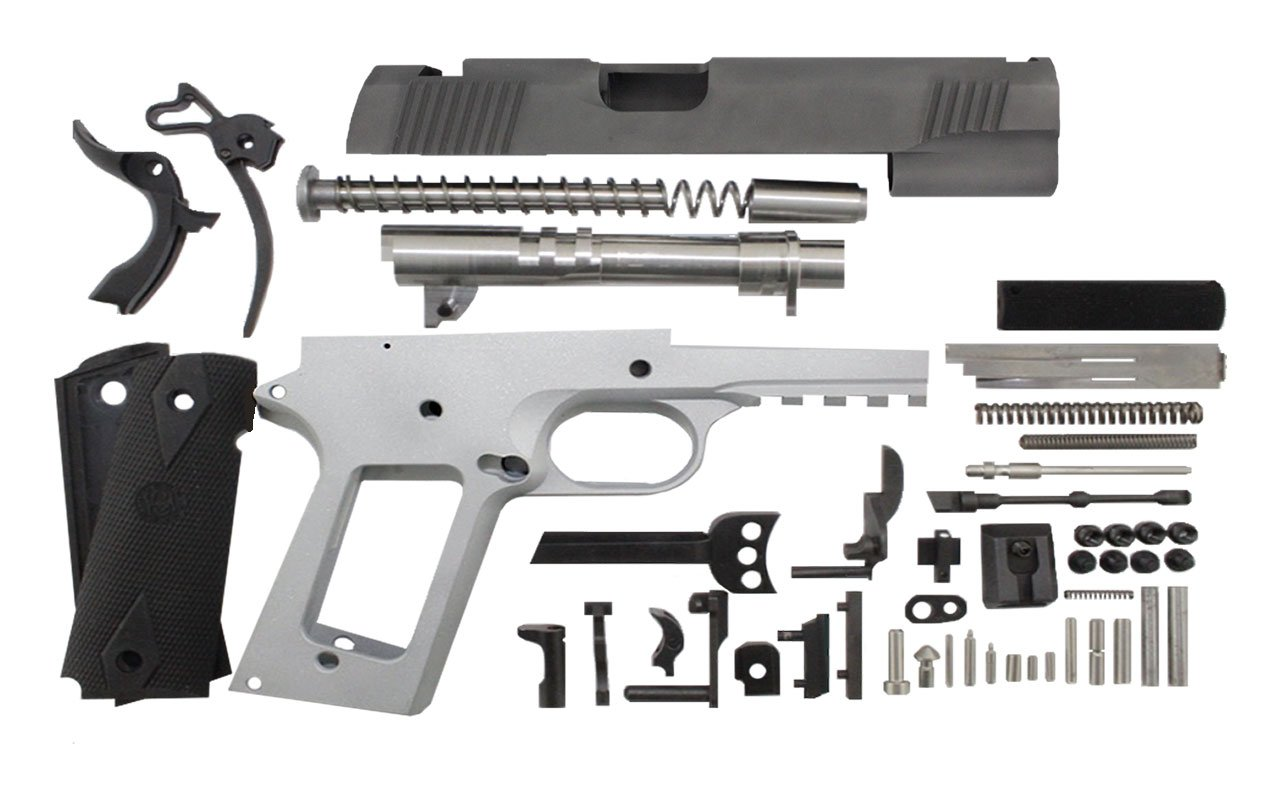 "45 / Government 5"" Tactical  / Bead Blasted 1911 Build Kit"