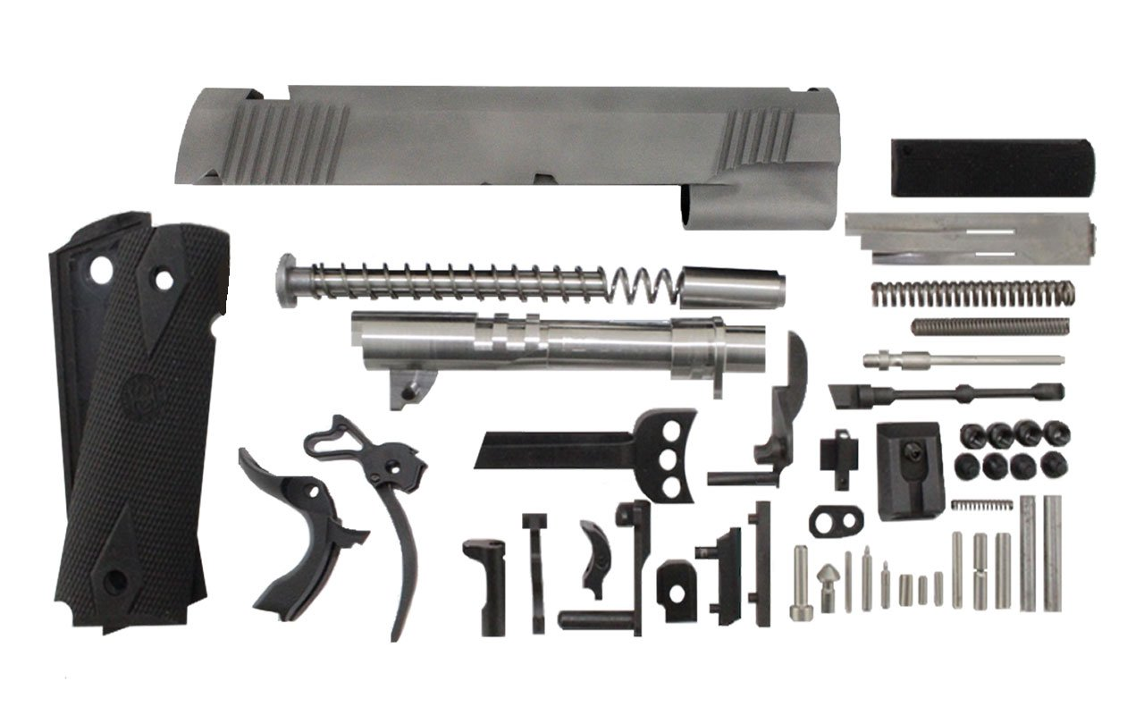 "9 / Commander 4.25"" Bead Blasted Slide 1911 Parts Kit"