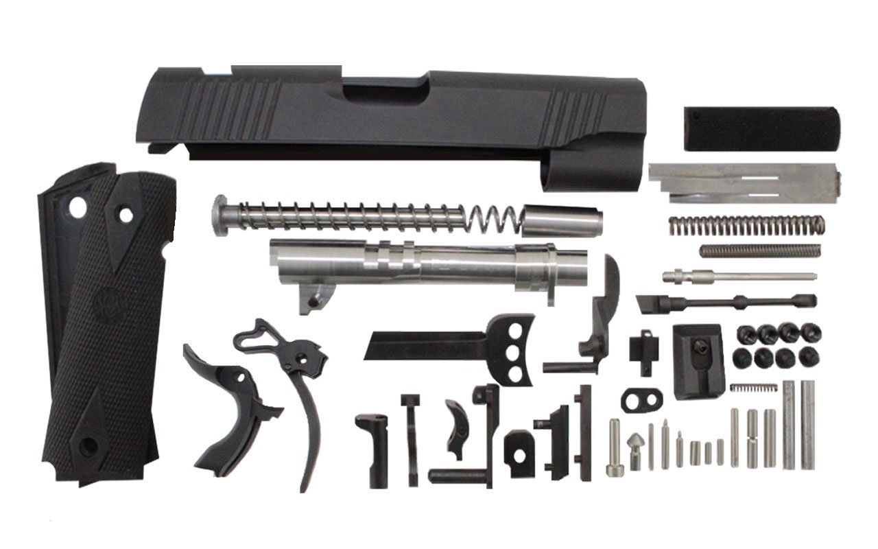 "45 / Commander 4.25"" Anodized Black Slide 1911 Parts Kit"