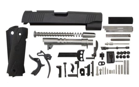 "9 / Government 5"" Anodized Black Slide 1911 Parts Kit"